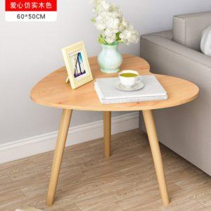 Bàn sofa kiểu dáng đẹp hình trái tim màu gỗ IMT 38-3