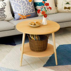 Bàn sofa kiểu dáng đẹp màu gỗ IMT 39-31