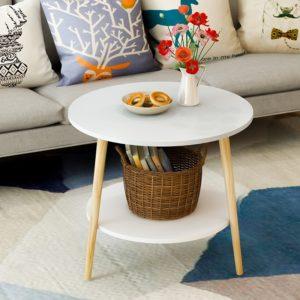 Bàn sofa kiểu dáng đẹp màu trắng IMT 39-31