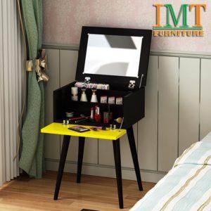 Bàn trang điểm kết hợp tab đầu giường đa năng màu đen IMT 369-1