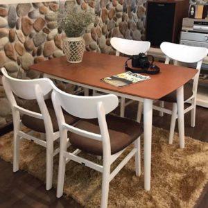 Bộ bàn ghế ăn MANGO 4 Ghế (Trắng)