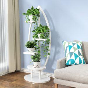 Kệ để chậu cây và trang trí hoa màu trắng IMT-212