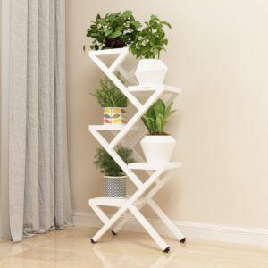 Kệ để chậu cây và trang trí hoa màu trắng IMT-213