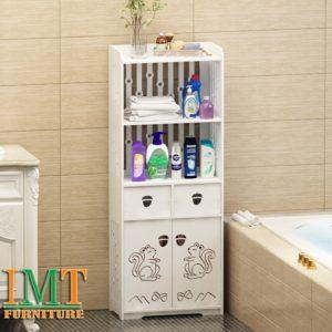 Kệ đựng đồ nhà tắm gỗ nhựa hoa văn đẹp IMT 607
