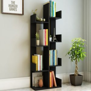 Kệ sách nghệ thuật 7 tầng màu đen IMT 60-1