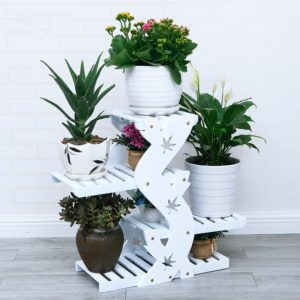Kệ trang trí 4T kết hợp để chậu cây, hoa IMT 110