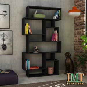Kệ trang trí kết hợp kệ sách màu đen IMT12-5