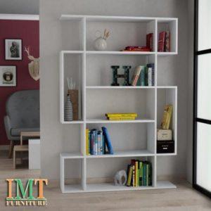 Kệ trang trí kết hợp kệ sách màu trắng IMT32-3