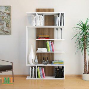 Kệ trang trí kết hợp kệ sách màu vân gỗ IMT11-5