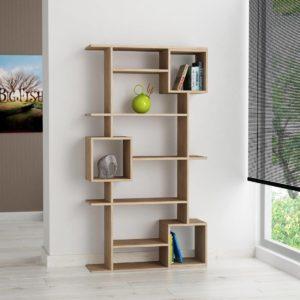 Kệ trang trí phòng khách màu vân gỗ IMT38-3