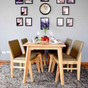 Set bàn ăn Kudo bao gồm 1 bàn 4 ghế