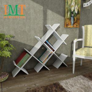 Kệ trang trí kết hợp kệ sách màu trắng IMT320-3