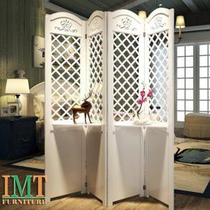 Vách Ngăn Bình Phong Trang Trí Phòng Khách Đẹp IMT 572-1