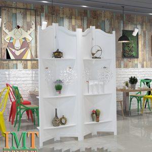 Vách Ngăn Bình Phong Trang Trí Phòng Khách Đẹp IMT 576-1