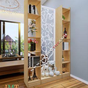 Vách ngăn trang trí phòng khách liền kệ 1 vách IMT 1200