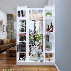 Vách ngăn trang trí phòng khách liền kệ 1 vách IMT 1201