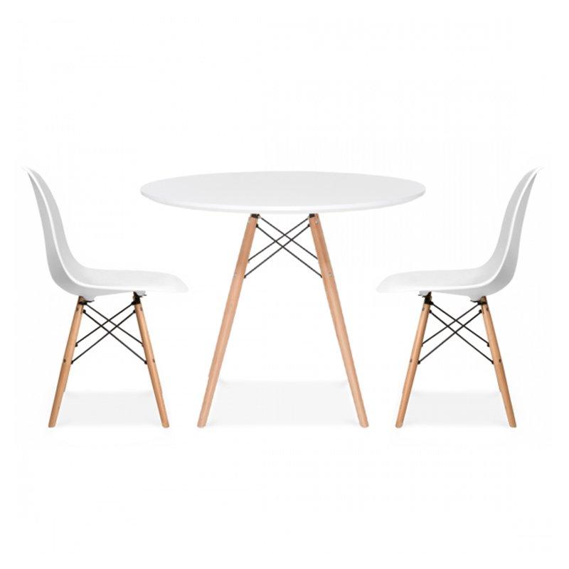 Bộ bàn tròn màu trắng IMT990