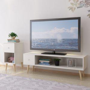 Kệ tivi hiện đại phòng ngủ kết hợp đôn IMT-12004
