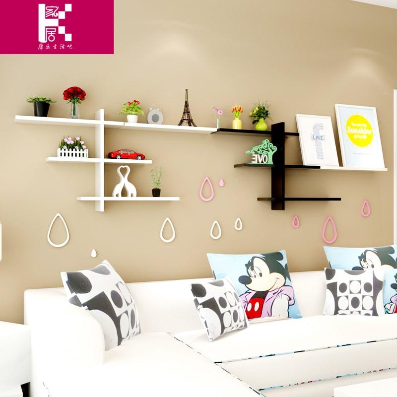 kệ gỗ treo tường trang trí phòng khách IMT-12008