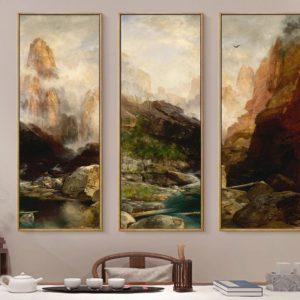 Tranh canvas phong cảnh núi rừng IMT-T1021