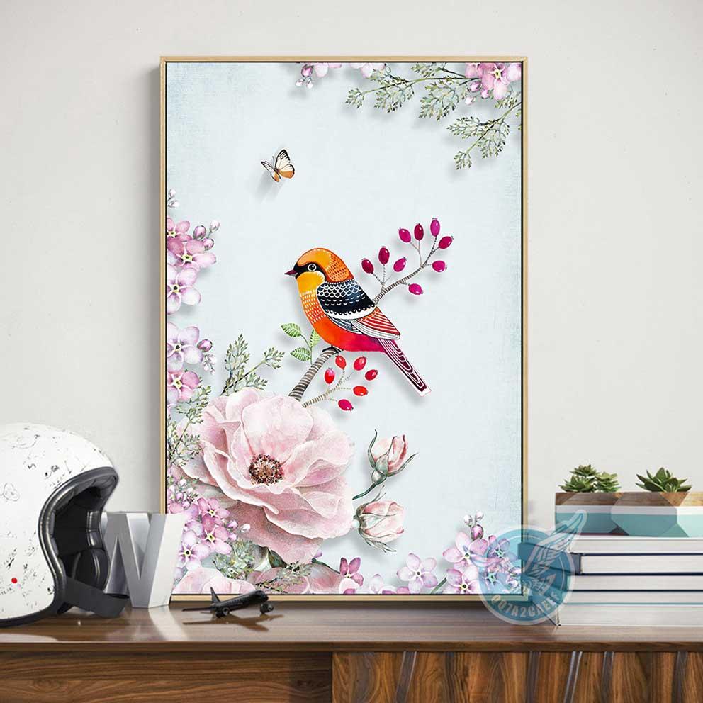 tranh treo tường chú chim nhỏ IMT-T1020 tại q2