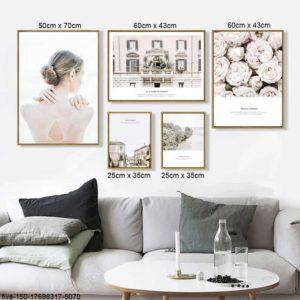 Tranh chân dung nghệ thuật cô gái và kiến trúc IMT-T1004