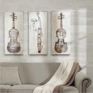 Tranh canvas đàn violin màu sắc cổ điển IMT-T1006