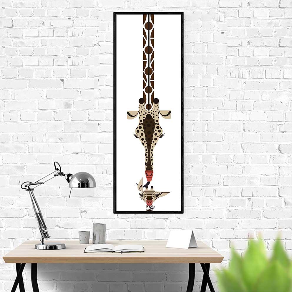 Sản phẩm tranh trừu tượng hươu cao cổ và ngựa vằn