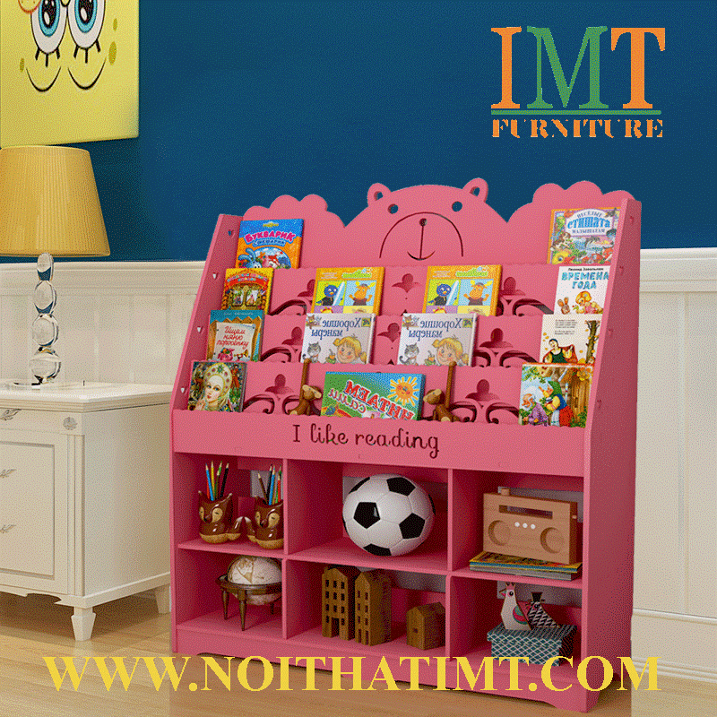 kệ sách kết hợp kệ đồ chơi trẻ em tphcm